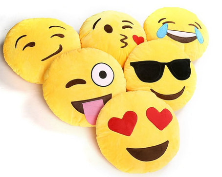 Smiley emoticon pillow