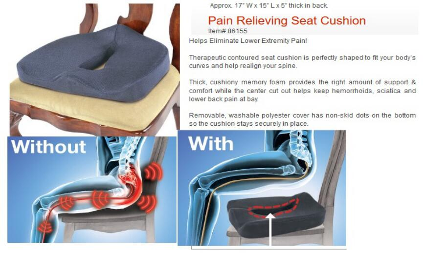 Pain Relieving seat Cushion
